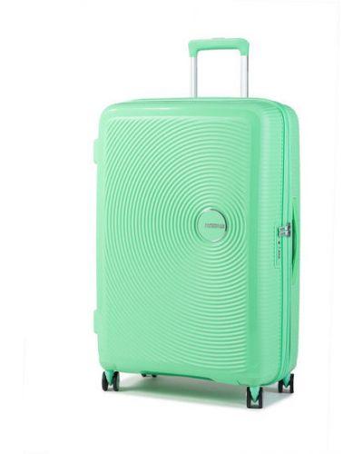 Zielona walizka duża American Tourister