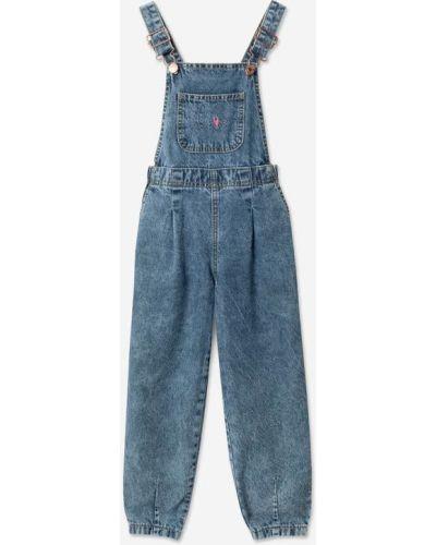 Джинсовый комбинезон - голубой Gloria Jeans