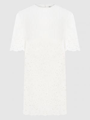 Белое платье мини Ermanno Scervino