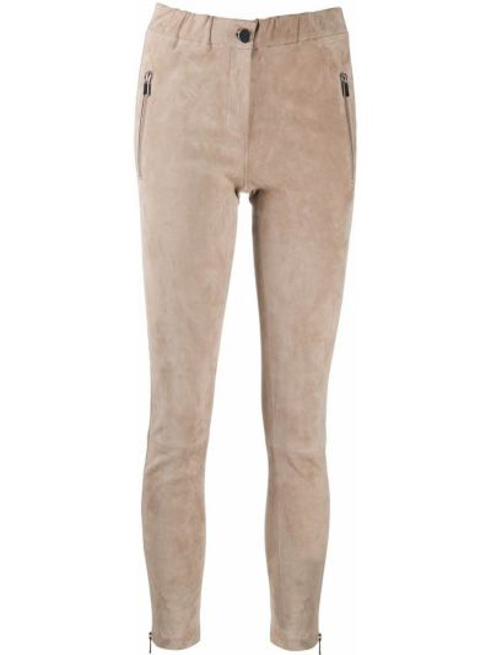 Зауженные кожаные брюки с карманами Arma