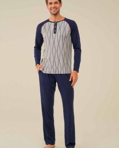 Пижамная синяя пижама Feyza