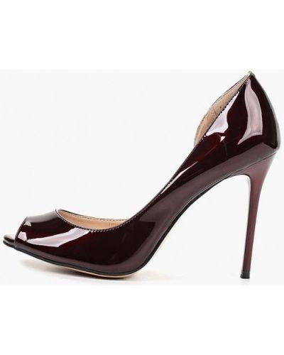 Кожаные туфли - бордовые Teetspace