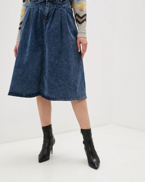 Джинсовое платье осеннее синее Ichi