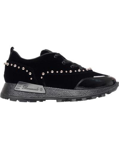 Черные кроссовки велюровые Barracuda
