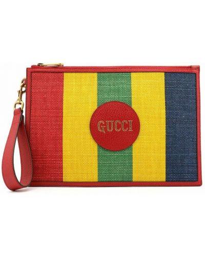 Kopertówka skórzana - czerwona Gucci
