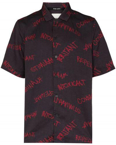 Czarna lniana koszula Ksubi