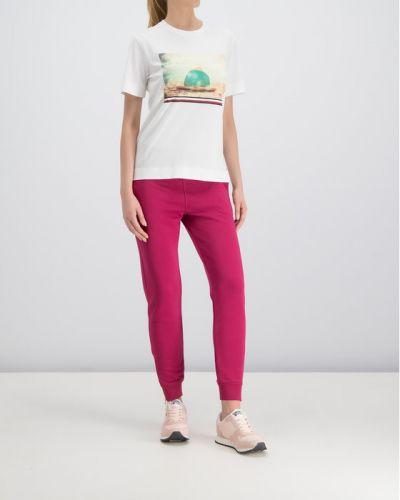 Biały t-shirt z printem na plażę Tommy Hilfiger