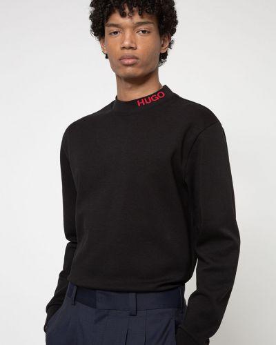 Czarna bluza z kapturem bawełniana Hugo