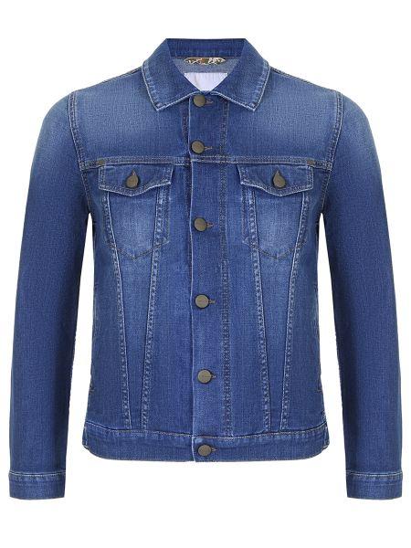 Хлопковая джинсовая куртка на пуговицах прозрачная с воротником Jacob Cohen
