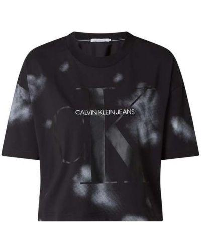Bawełna czarny koszula jeansowa okrągły z dekoltem Calvin Klein Jeans