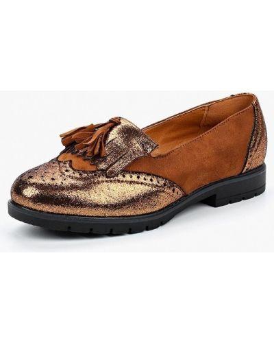 Коричневые туфли на каблуке Vh