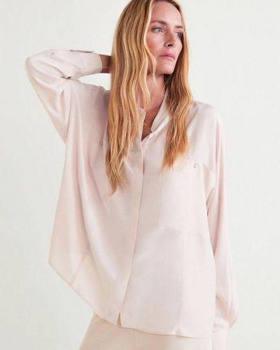 Рубашка с длинным рукавом розовый Mango