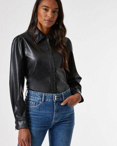 Черная рубашка с длинными рукавами Dorothy Perkins