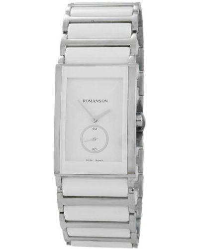 Часы водонепроницаемые белые корейский Romanson
