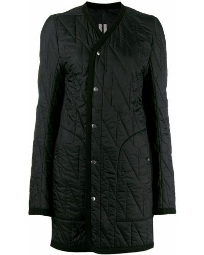 Черное длинное пальто Rick Owens