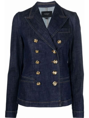 Niebieska klasyczna kurtka Giambattista Valli