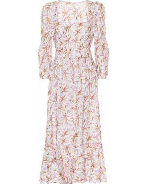 Платье миди с цветочным принтом на тонких бретелях Jonathan Simkhai
