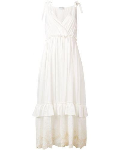Платье макси длинное - белое Ballantyne