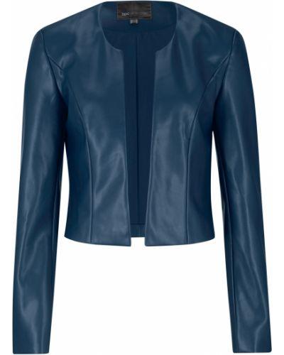 Голубой кожаный пиджак Bonprix