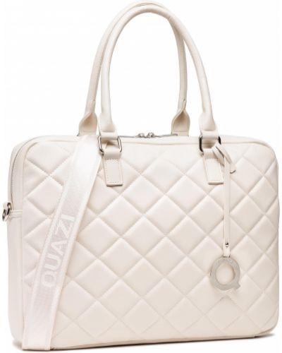 Biała torba na laptopa Quazi