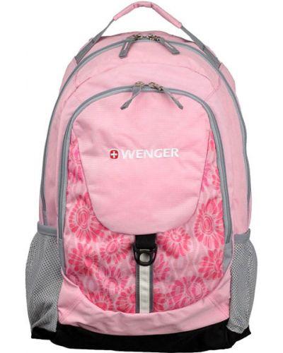 Рюкзак на молнии розовый Wenger