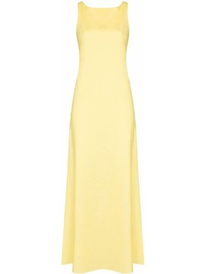 Żółta lniana sukienka Racil