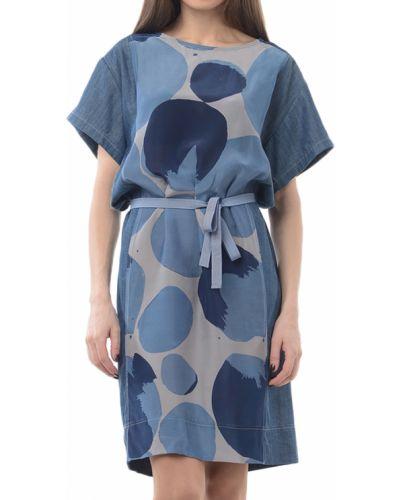 Шелковое платье - синее Armani Jeans