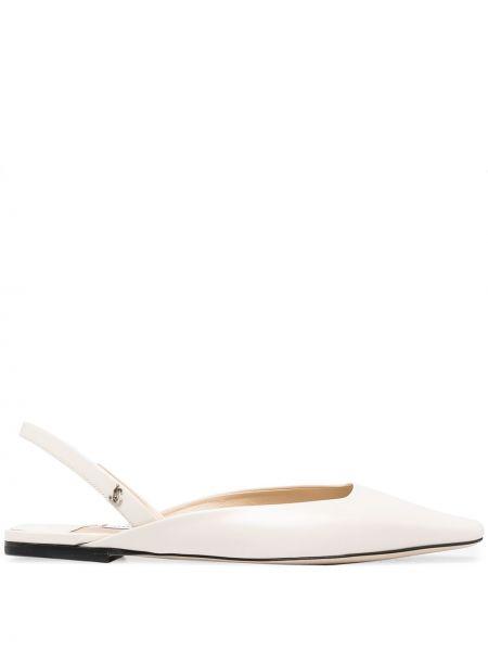 Srebro z paskiem skórzany sandały Jimmy Choo