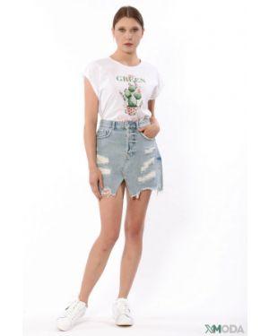 Хлопковая джинсовая юбка Liu Jo Jeans