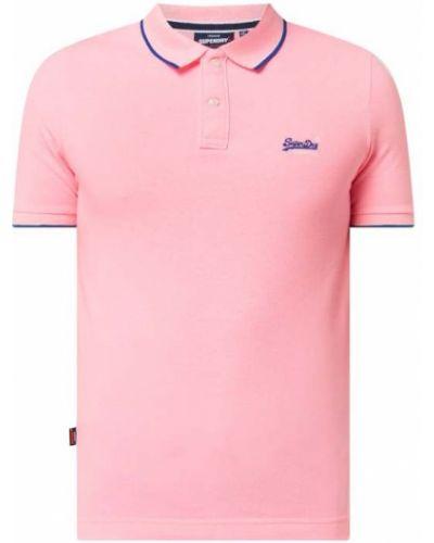 Różowy t-shirt bawełniany Superdry