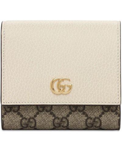 Biały portfel z kieszeniami metal z gniazdem Gucci