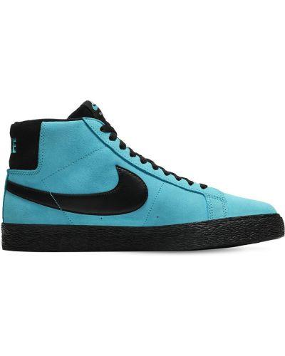 Niebieski koronkowa top na sznurowadłach Nike