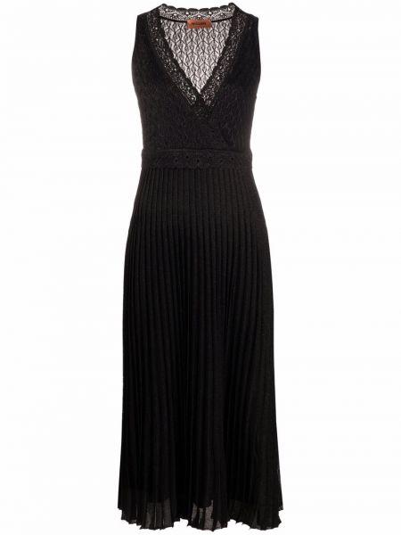 Шелковое платье - черное Missoni