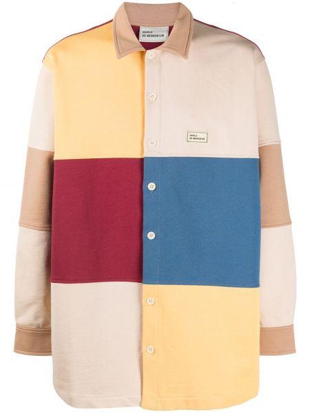 Klasyczna klasyczna koszula bawełniana z długimi rękawami Drole De Monsieur