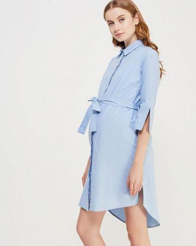 Голубое платье для беременных Mama.licious