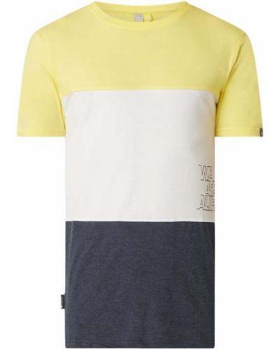 Żółty t-shirt bawełniany z printem Alife And Kickin