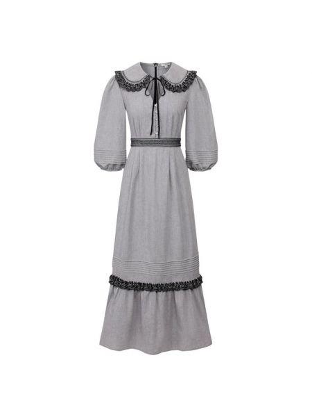 Хлопковое платье - серое Vilshenko