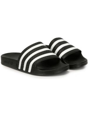 Шлепанцы черный открытый Adidas Kids