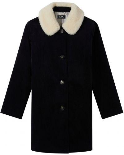 Пальто вельветовое - синее A.p.c.