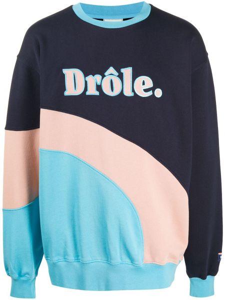 Czarna bluza z długimi rękawami bawełniana Drole De Monsieur