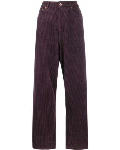 Свободные брюки вельветовые фиолетовые Bellerose