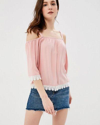 Розовая блузка с открытыми плечами Springfield