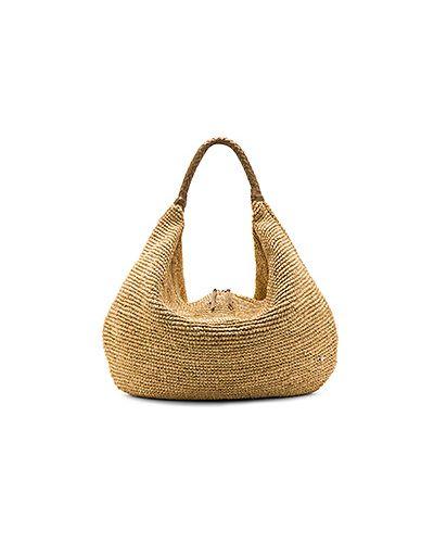 Кожаная сумка плетеная соломенная Florabella