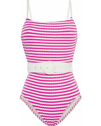 Купальник в полоску - розовый Solid & Striped