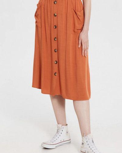Оранжевая юбка свободного кроя Lc Waikiki
