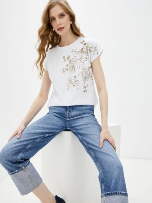 Белая футболка с короткими рукавами Savage