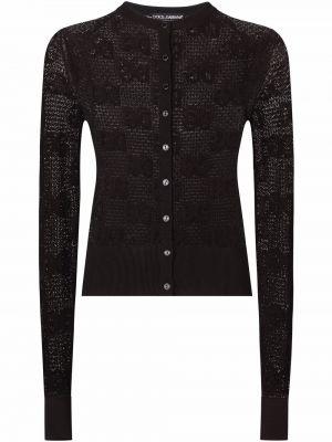 Черная кардиган длинная Dolce & Gabbana