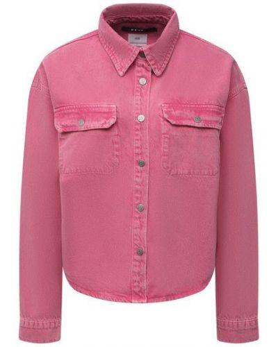 Джинсовая рубашка - розовая Ksubi