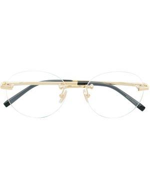 Желтые очки круглые металлические Boucheron Eyewear