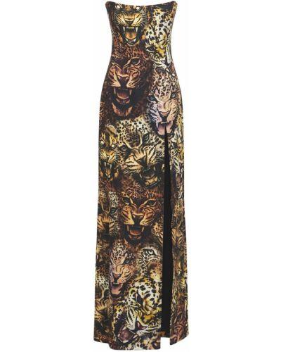 Платье с разрезом Roberto Cavalli